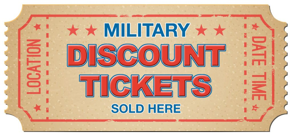 military discount tickets sold here
