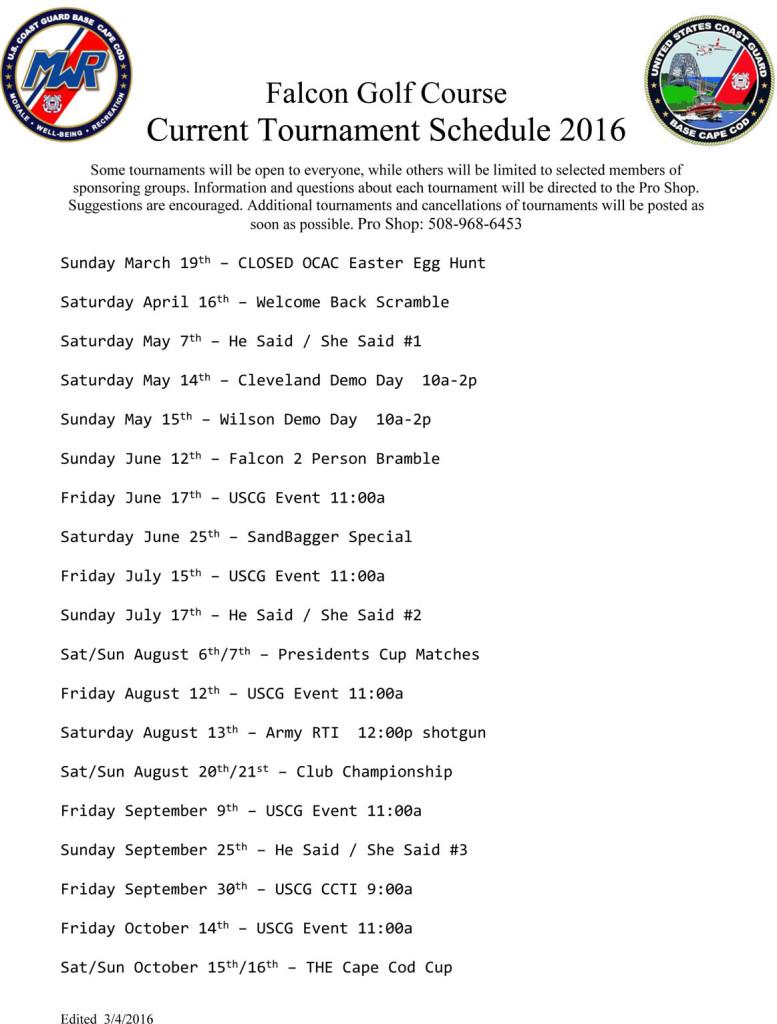 2016 Falcon Golf Tournament Schedule updated 3_4_16