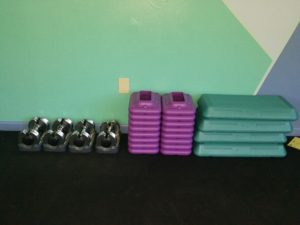 steps and weights