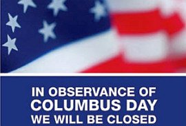 Columbus Day Closures