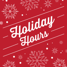 MWR Holiday Hours Dec 25 & 26