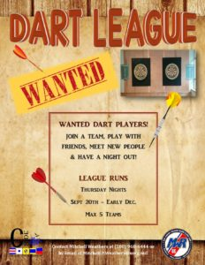 Dart League Wanted Players1